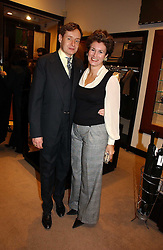 NICK FOULKES and his wife ALEX at the launch of Dunhill by Design by Nick Foulkes held at Alfred Dunhill, 48 Jermyn Street, London on 24th October 2006.<br /><br />NON EXCLUSIVE - WORLD RIGHTS