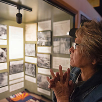 Gloria Morgan views the Navajo Code Talker exhibit at the reopening of the Gallup Cultural Center Thursday, March 5 in Gallup.