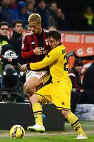 Keisuke Honda Milan, Cristian Rodriguez Parma <br /> Milano 01-02-2015 Stadio Giuseppe Meazza Football Calcio Serie A 2014/2015 Milan - Parma foto Giuseppe Celeste /  Insidefoto