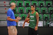 Sassari 14 Agosto 2012 - Qualificazioni Eurobasket 2013 -Allenamento<br /> Nella Foto : RICCARDO PITTIS DANIEL HACKETT<br /> Foto Ciamillo
