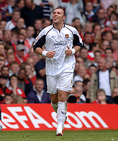 Photo: Daniel Hambury.<br />Liverpool v West Ham United. The FA Cup Final. 13/05/2006.<br />West Ham's Dean Ashton celebrates scoring the second goal.