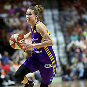 UNCASVILLE, CONNECTICUT- MAY 26:  Eugeniya Belyakova #10 of the Los Angeles Sparks drives to the basket during the Los Angeles Sparks Vs Connecticut Sun, WNBA regular season game at Mohegan Sun Arena on May 26, 2016 in Uncasville, Connecticut. (Photo by Tim Clayton/Corbis via Getty Images)