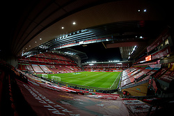 LIVERPOOL, ENGLAND - Thursday, March 4, 2021: A general view of Anfield from the Spion Kop ahead of the FA Premier League match between Liverpool FC and Chelsea FC. (Pic by David Rawcliffe/Propaganda)
