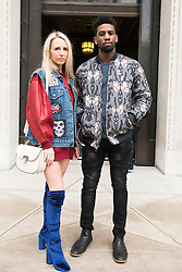 Naomi Isted and guest during London Fashion Week Autumn/Winter 2017 in London.  Picture date: Saturday 18th February 2017. Photo credit should read: DavidJensen/EMPICS Entertainment