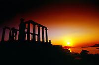 Temple of Poseidon (Doric temple), Cape Sounion, Attica Peninsula, near Athens, Greece