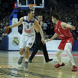 March 10, 2017 - Madrid, Madrid, Spain - Jonas Maciulis  of Real Madrid in action during the 2016/2017 Turkish Airlines EuroLeague Regular Season Round 25 game between Real Madrid v Crvena Zvezda mts Belgrade at Wizink Center on March 10, 2017 in Madrid, Spain. Photo: Oscar Gonzalez/NurPhoto  (Credit Image: © Oscar Gonzalez/NurPhoto via ZUMA Press)