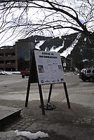 Signage around Jackson in response to COVID-19 pandemic
