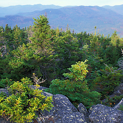 Early morning on Puzzle Mountain on the new Grafton Loop Trail, a 42-mile loop that connects with the Appalachian Trail near Maine's Grafton Notch State Park.