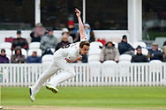 Josh Davey of Somerset bowling during the third day of the Specsavers County Champ Div 1 match between Somerset County Cricket Club and Yorkshire County Cricket Club at the Cooper Associates County Ground, Taunton, United Kingdom on 29 April 2018. Picture by Graham Hunt.