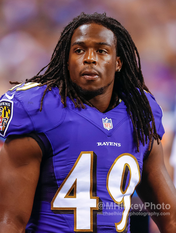 INDIANAPOLIS, IN - AUGUST 20: Maurice Canady #49 of the Baltimore Ravens is seen during the game against the Indianapolis Colts at Lucas Oil Stadium on August 20, 2016 in Indianapolis, Indiana.  (Photo by Michael Hickey/Getty Images) *** Local Caption *** Maurice Canady