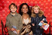 Premiere K3 en de Kattenprins in Tuschinski, Amsterdam.<br /> <br /> <br /> <br /> Op de foto: Chimene van Oosterhout met zoon zoontje Lyam en Billy (zoon van Tanja Jess)