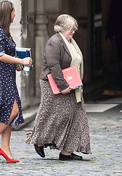 © Licensed to London News Pictures. 09/09/2019. London, UK. Newly appointed Work & Pensions Secretary Therese Coffey arrives at Parliament. The government have announced that Parliament will be prorogued at the end of business today. Photo credit: Peter Macdiarmid/LNP