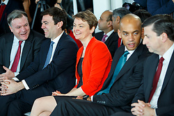 © Licensed to London News Pictures. 27/03/2015. LONDON, UK. Labour MPs Ed Balls, Andy Burnham, Yvette Cooper and Chuka Umunna attending to the launch of Labour's 2015 General Election campaign at Orbit, Queen Elizabeth Olympic Park in London on Friday, 27 March 2015. Photo credit : Tolga Akmen/LNP