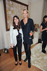 Left to right, TANIA FARES and WENDY KNATCHBULL at a party hosted by Maria Hatzistefanis to celebrate the publication of Santa Montefiore's new book 'The Affair' held at 35 Walpole Road, London on 27th April 2010.