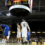 Marcus Jordan (5) of the University of Central Florida Knights mens basketball team enters the game against the West Florida Argonauts in the first home game of the 2010 season at the UCF Arena on November 12, 2010 in Orlando, Florida. UCF won the game 115-61. (AP Photo/Alex Menendez)