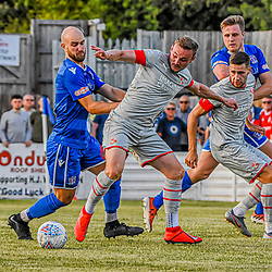 Supermarine fc vs Swindon town 5/07/2019 Wiltshire England UK. Supermarine football club host Swindon town Fc in a pre-season friendly at the webbwoods stadium final score Swindon Town 3-Supermarine Fc 0