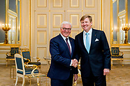 Koning Willem-Alexander ontvangt de bondspresident van Duitsland, Frank-Walter Steinmeier, en zijn e