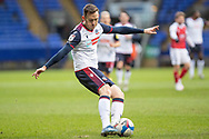 Bolton Wanderers defender Gethin Jones (2) during the EFL Sky Bet League 2 match between Bolton Wanderers and Cheltenham Town at the University of  Bolton Stadium, Bolton, England on 16 January 2021.