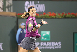 March 8, 2019 - Indian Wells, CA, U.S. - INDIAN WELLS, CA - MARCH 08: Victoria Azarenka (BLR) hits a forehand during the BNP Paribas Open on March 8, 2019 at Indian Wells Tennis Garden in Indian Wells, CA. (Photo by George Walker/Icon Sportswire) (Credit Image: © George Walker/Icon SMI via ZUMA Press)