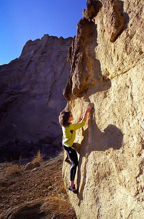Rock Climbing at Smith Rock State Park in Oregon