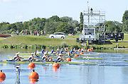 Eton Dorney, Windsor, Great Britain,..2012 London Olympic Regatta, Dorney Lake. Eton Rowing Centre, Berkshire[ Rowing]...Description;  GBR W4X Race start GBR W4X.   10:00:03  Saturday  28/07/2012.[Mandatory Credit: Peter Spurrier/Intersport Images].