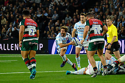 December 9, 2018 - Nanterre, Hauts de Seine, France - Racing 92 scrum half TEDDY IRIBAREN in action during the rugby Champions Cup Day 3 between Racing 92 and Leicester at U Arena Stadium in Nanterre - France..Racing 92 Won 36-26. (Credit Image: © Pierre Stevenin/ZUMA Wire)