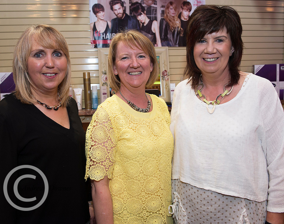 Christina Casey, Maura Glynn and Mary Counihan, Touch a Class, Kinvara at A Vintage and Pre-Loved Fashion Extravaganza held in the Lady Gregory Hotel in Gort . A fundraising event organised by the Parents Council for Seamount's new pitch.  Photo:Andrew Downes