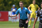 Match Referee Chris Bennett in the Handa Premiership football match, Hawke's Bay United v Canterbury United, Bluewater Stadium, Napier, Sunday, December 06, 2020. Copyright photo: Kerry Marshall / www.photosport.nz