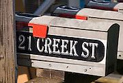 Alaska Ketchikan.  Mailbox on Creek Street