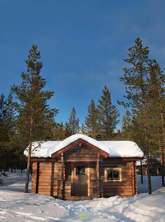 Cabin in Junosuando Woodland, Sweden, Lapland.