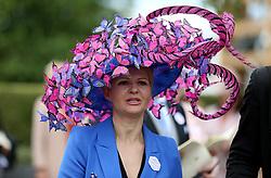 Nataliya Tutus arriving during day one of Royal Ascot at Ascot Racecourse.