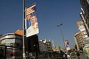 Turkije, Istanbul, 1-6-2011Beeltenissen van de turkse premier Erdohan domineren het straatbeeld in de aanloop naar de verkiezingen voor het parlement op 12 juni.Foto: Flip Franssen