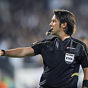 Referee's Firat AYDINUS during their Turkish Superleague Derby match Besiktas between Fenerbahce at the Inonu Stadium at Dolmabahce in Istanbul Turkey on Thursday, 207 October 2011. Photo by TURKPIX
