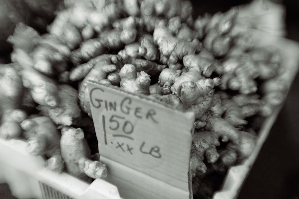 ginger for sale at farmers market