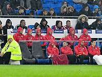 Football - 2019 / 2020 International Friendly - Wales vs. Belarus<br /> <br /> Wales subs bench including Gareth Bale of Wales, at Cardiff City Stadium.<br /> <br /> COLORSPORT/WINSTON BYNORTH