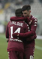 January 6, 2018 - Turin, Italy - Iago Falque and Daniele Baselli during Serie A match between Torino v Bologna, in Turin, on January 6, 2018  (Credit Image: © Loris Roselli/NurPhoto via ZUMA Press)
