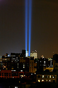World Trade Center NYC<br /> Tribute of Light<br /> 11th March 2002