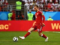 16th June 2018, Mordovia Arena, Mordovia, Russia; FIFA World Cup WM Weltmeisterschaft Fussball Football, Group C, Peru versus Denmark; Christian Eriksen of Denmark PUBLICATIONxINxGERxSUIxAUTxHUNxSWExNORxDENxFINxONLY ActionPlus12037580 UlrikxPedersen