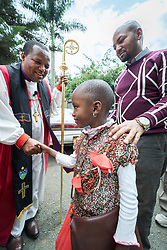 """11 March 2018, Arusha, Tanzania: In a spirit of vibrant hospitality, the Christ Church Cathedral of Mount Kilimanjaro Diocese, Arusha, Tanzania celebrated mass on 11 March, inviting fellow Christians from around the world currently participating in the WCC Conference on World Mission and Evangelism. <br /> <br /> The cathedral, whose location in central Arusha historically marked the mid-point between Cape Town (South Africa) and Cairo (Egypt), has a long history as a central worship point for a mixture of local and international congregants. <br /> <br /> Reflecting the call to mission, the church is active in the areas of Education and Health, and sponsors schools, hospitals, as well as charity work. With a particular focus on children, the church organizes a weekly """"Compassion Saturday"""", where children are welcomed to the church for Christian teachings, food and other support. <br /> <br /> Welcoming the international visitors to an African worship experience, the service combined traditional aspects of the Anglican liturgy with contemporary African charisma, through choirs and dance. Bishop Stanley Hotay from the Diocese of Mount Kilimanjaro led the service."""