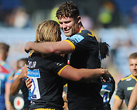 Rugby Union - 2020 / 2021 Gallagher Premiership - Round 22 - Wasps vs Leicester Tigers - Ricoh Stadium<br /> <br /> Will Rowlands and Tommy Taylor of Wasps embrace, after playing their last game for the club<br /> <br /> Credit : COLORSPORT/Andrew Cowie