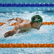 Swimming. Men's 200m Butterfly. Winner Chad le Clos. South Africa.