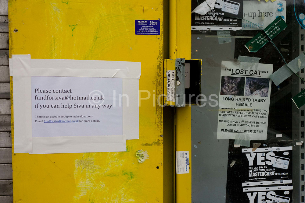 A local campaign helps to raise funds for a looted shop, the victim of the riots in London and other UK cities. The store belongs to Sri Lankan-born Tamil refugee Sivaharan (Siva) Kandiah and his shop, the 'Clarence Convenience Store' is in Clarence Road, Hackney. During the riot in London on Monday 8th August, local youths and older residents of nearby estates ransacked the business and either removed Siva's stock or left the rest to spoil on the unrefrigerated floor. In alcohol and cigarettes alone, he lost £50,000 in stock but during the campaign top help him recover, more than £16,000 was raised by his customers and friends.