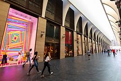 Interior of new modern Beirut Souks retail development in Downtown Beirut, Lebanon