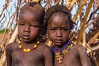 Dassanach tribe children, Omo Valley, Ethiopia.
