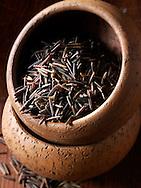Wild Rice grains - stock photos