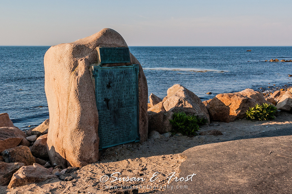 Settler's Rock at north end of Block Island, Rhode Island