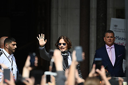 © Licensed to London News Pictures. 23/07/2020. London, UK. American Actor JOHNNY DEPP arrives at the High Court in London, where Johnny Depp is in a legal dispute with UK tabloid newspaper The Sun over allegations he assaulted his former wife, Amber Heard. Photo credit: Ben Cawthra/LNP