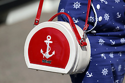 General view of a racegoers handbag ahead of day five of Royal Ascot at Ascot Racecourse.