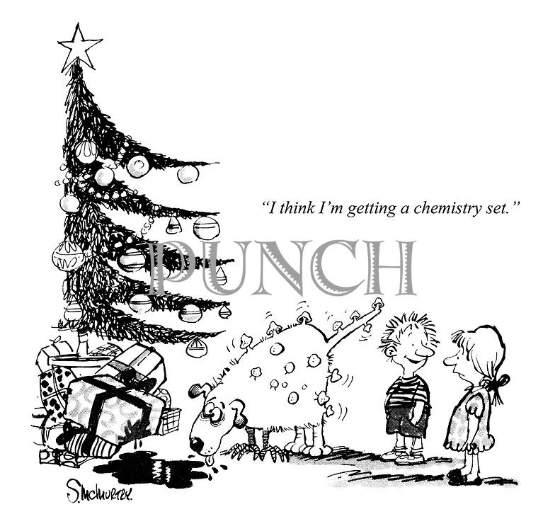 """I think I'm getting a chemistry set."""