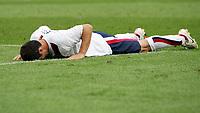 Carlos Bocanegra USA enttaeuscht am Boden<br /> Fussball WM 2006 Ghana - USA 2:1<br /> Norway only